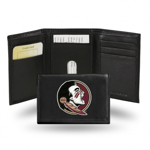 Florida State Seminoles Embroidered Leather Tri-Fold Wallet