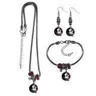 Florida State Seminoles Euro Bead Jewelry 3 Piece Set