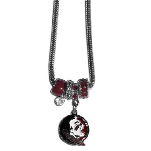 Florida State Seminoles Euro Bead Necklace