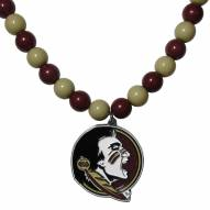 Florida State Seminoles Fan Bead Necklace