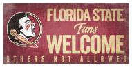 Florida State Seminoles Fans Welcome Sign