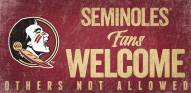 Florida State Seminoles Fans Welcome Wood Sign