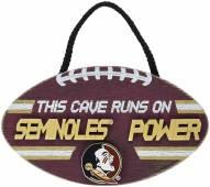 Florida State Seminoles Football Power Wood Sign
