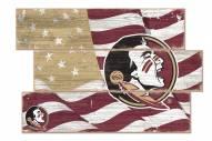 Florida State Seminoles Flag 3 Plank Sign