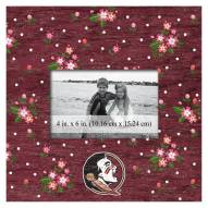 """Florida State Seminoles Floral 10"""" x 10"""" Picture Frame"""