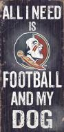 Florida State Seminoles Football & Dog Wood Sign
