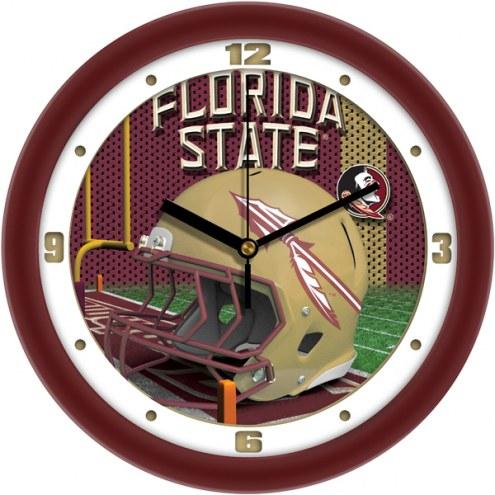 Florida State Seminoles Football Helmet Wall Clock
