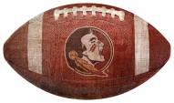 Florida State Seminoles Football Shaped Sign