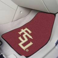 "Florida State Seminoles ""FS"" 2-Piece Carpet Car Mats"