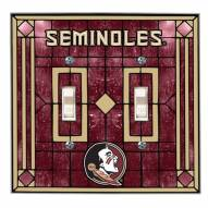 Florida State Seminoles Glass Double Switch Plate Cover