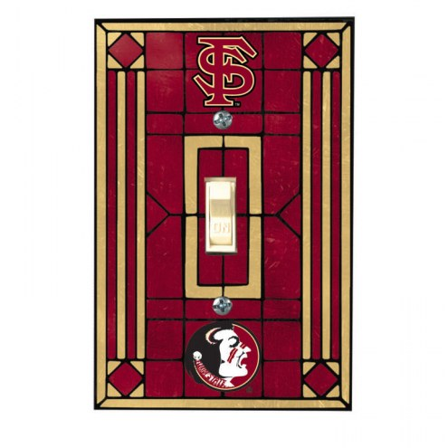 Florida State Seminoles Glass Single Light Switch Plate Cover