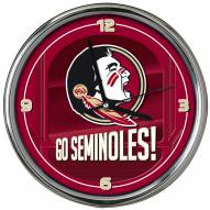 Florida State Seminoles Go Team Chrome Clock