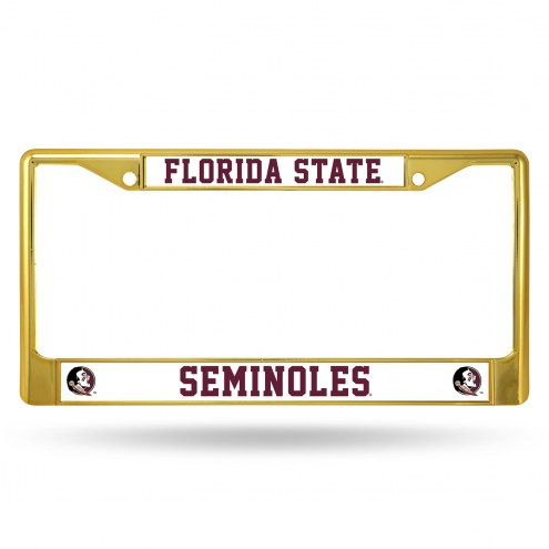 Florida State Seminoles Gold Colored Chrome License Plate Frame