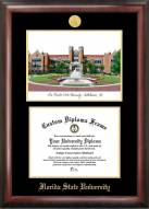 Florida State Seminoles Gold Embossed Diploma Frame with Campus Images Lithograph