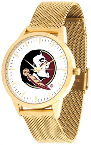 Florida State Seminoles Gold Mesh Statement Watch