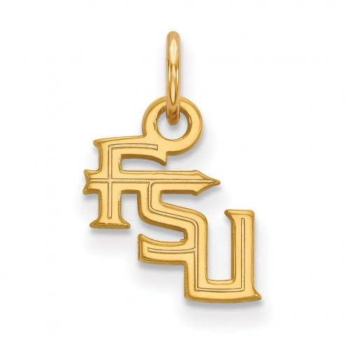 Florida State Seminoles Sterling Silver Gold Plated Extra Small Pendant