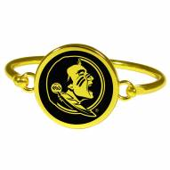 Florida State Seminoles Gold Tone Bangle Bracelet