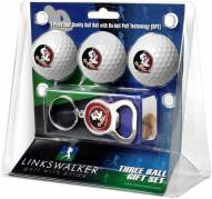 Florida State Seminoles Golf Ball Gift Pack with Key Chain