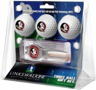 Florida State Seminoles Golf Ball Gift Pack with Kool Tool