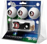 Florida State Seminoles Golf Ball Gift Pack with Spring Action Divot Tool