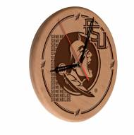 Florida State Seminoles Laser Engraved Wood Clock