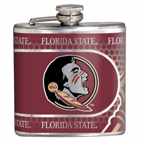 Florida State Seminoles Hi-Def Stainless Steel Flask
