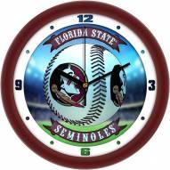 Florida State Seminoles Home Run Wall Clock