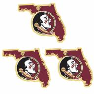 Florida State Seminoles Home State Decal - 3 Pack