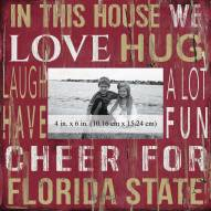 """Florida State Seminoles In This House 10"""" x 10"""" Picture Frame"""