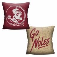 Florida State Seminoles Invert Woven Pillow