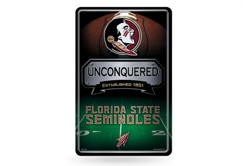 Florida State Seminoles Large Embossed Metal Wall Sign