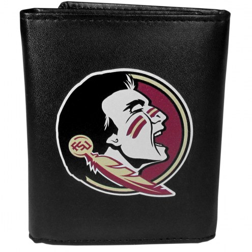 Florida State Seminoles Large Logo Leather Tri-fold Wallet