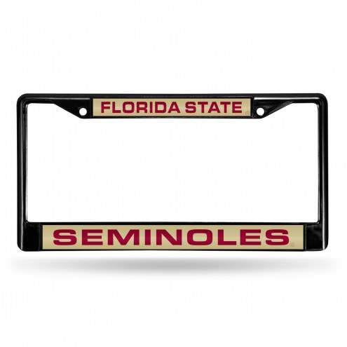 Florida State Seminoles Laser Black License Plate Frame