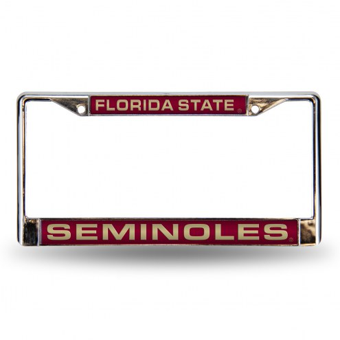 Florida State Seminoles Laser Chrome License Plate Frame