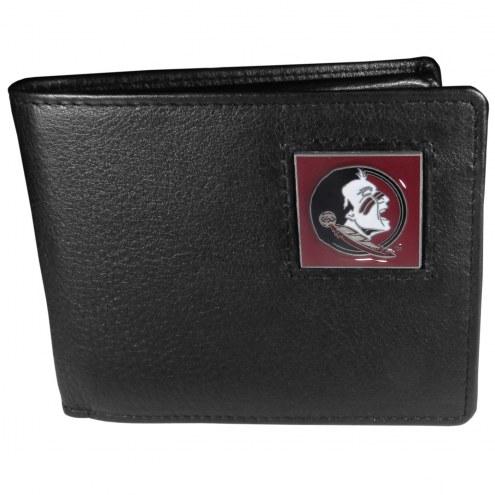 Florida State Seminoles Leather Bi-fold Wallet in Gift Box