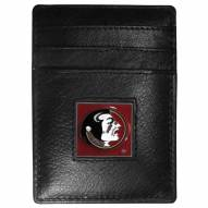 Florida State Seminoles Leather Money Clip/Cardholder in Gift Box
