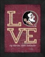 Florida State Seminoles Love My Team Vertical Color Wall Decor