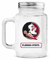 Florida State Seminoles Mason Glass Jar