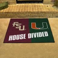 Florida State Seminoles/Miami Hurricanes House Divided Mat