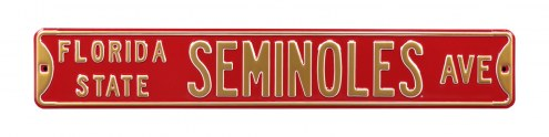 Florida State Seminoles NCAA Embossed Street Sign