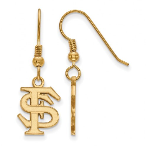 Florida State Seminoles NCAA Sterling Silver Gold Plated Small Dangle Earrings