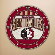 Florida State Seminoles NCAA Stained Glass Wall Clock