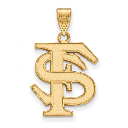 Florida State Seminoles NCAA Sterling Silver Gold Plated Large Pendant
