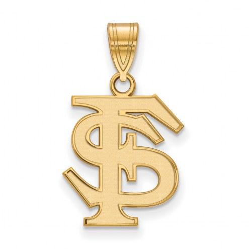 Florida State Seminoles NCAA Sterling Silver Gold Plated Medium Pendant