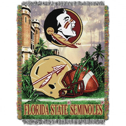 Florida State Seminoles NCAA Woven Tapestry Throw / Blanket