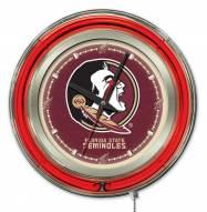 Florida State Seminoles Neon Clock