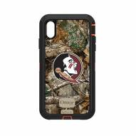 Florida State Seminoles OtterBox iPhone XS Max Defender Realtree Camo Case