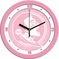 Florida State Seminoles Pink Wall Clock