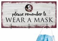 Florida State Seminoles Please Wear Your Mask Sign