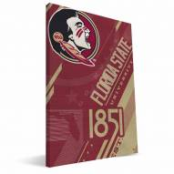 Florida State Seminoles Retro Canvas Print